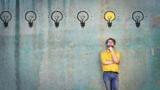 Hombre con ideas