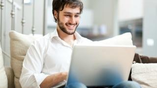 happy man online