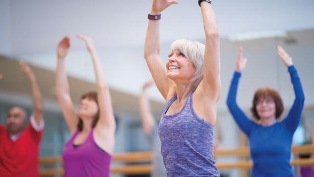 Mujer en clase de fitness